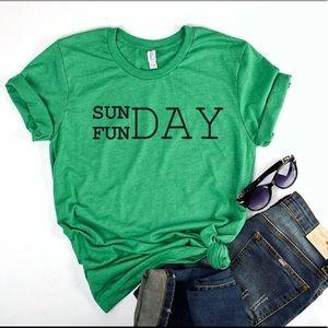 Sunday Funday TShirt 👚 NEW Green XSm- 4X